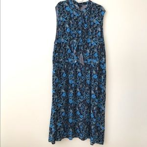Who What Wear Night Shade Floral Sleeveless Dress